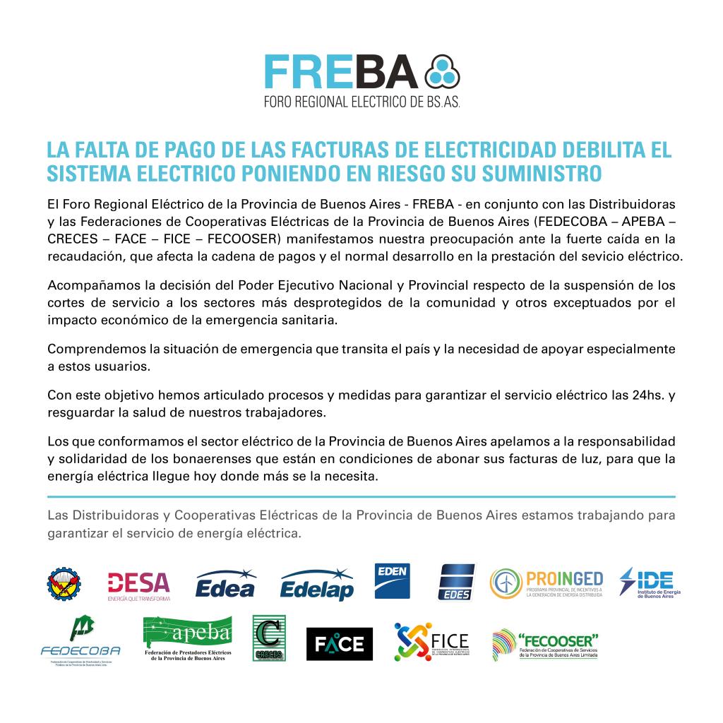 LA FALTA DE PAGO DE LAS FACTURAS DE ELECTRICIDAD DEBILITA EL SISTEMA ELÉCTRICO PONIENDO EN RIESGO SU SUMINISTRO